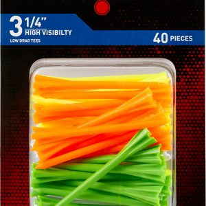 """Maxfli Pronged 3.25"""" High Visibility Golf Tees – 40 Pack"""